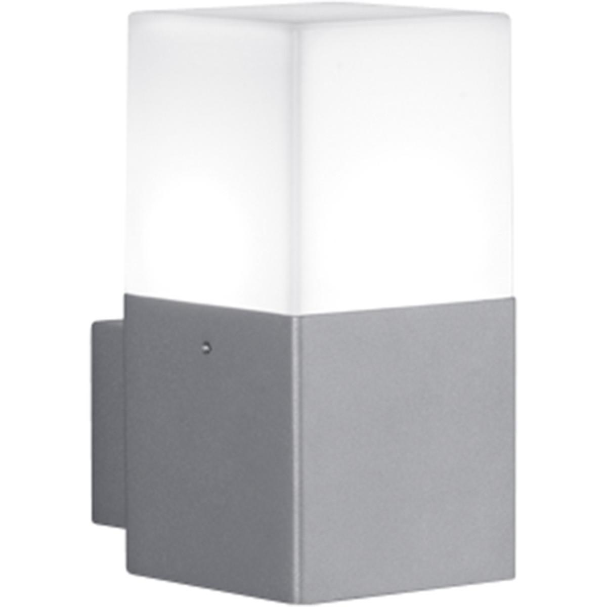 LED Tuinverlichting - Tuinlamp - Trion Hudsy - Wand - 4W - Warm Wit 3000K - Vierkant - Mat Titaan -