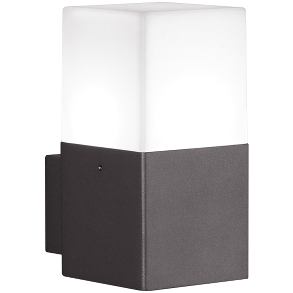LED Tuinverlichting - Tuinlamp - Trion Hudsy - Wand - 4W - Warm Wit 3000K - Vierkant - Mat Zwart - A