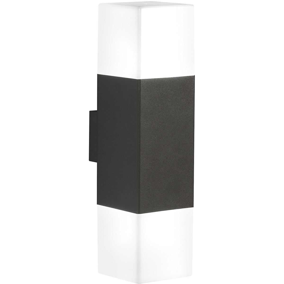 LED Tuinverlichting - Tuinlamp - Trion Hudsy - Wand - 8W - Warm Wit 3000K - Vierkant - Mat Zwart - A