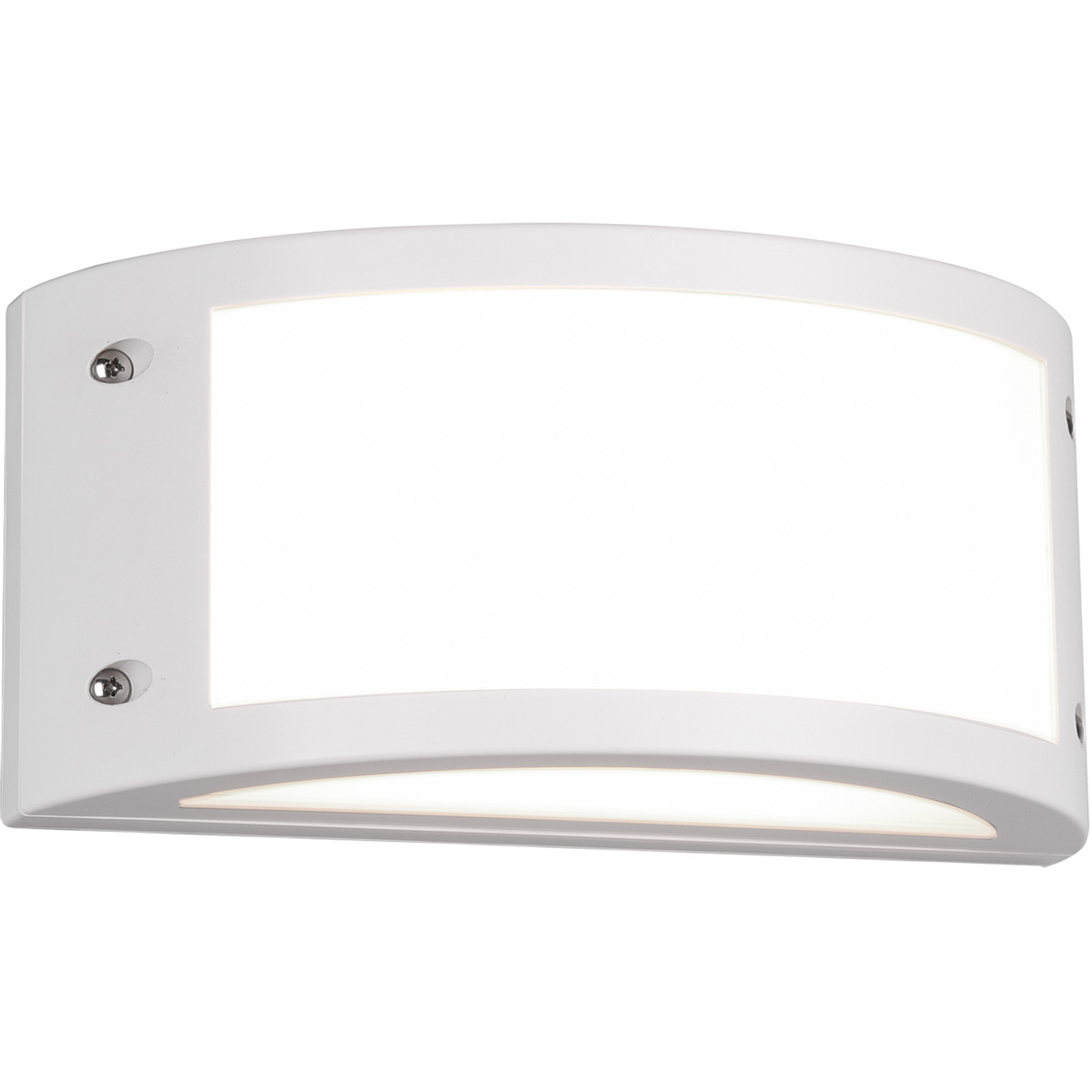 LED Tuinverlichting - Tuinlamp - Trion Keraly - Wand - 12W - Mat Wit - Kunststof