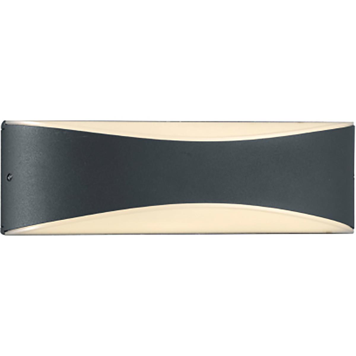 LED Tuinverlichting - Tuinlamp - Trion Kinda - Wand - 9W - Mat Zwart - Aluminium