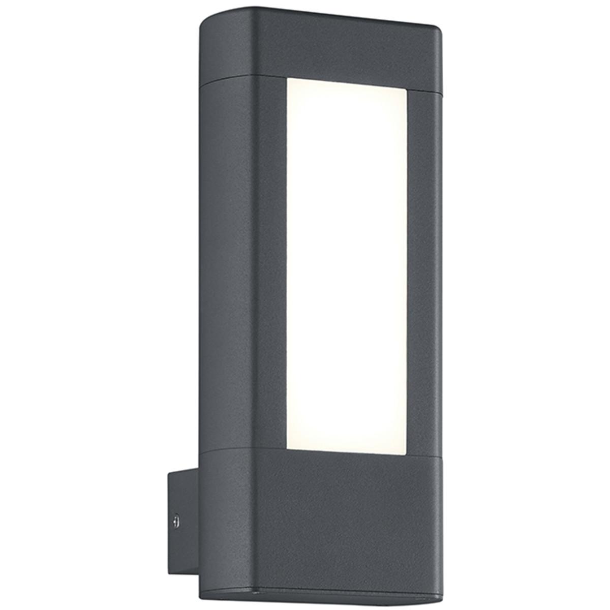 LED Tuinverlichting - Tuinlamp - Trion Rhinon - Wand - 9W - Warm Wit 3000K - Mat Zwart - Aluminium