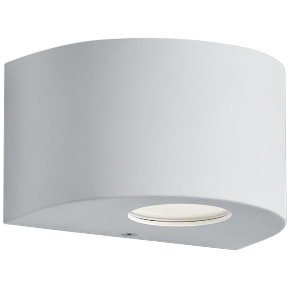 LED Tuinverlichting - Tuinlamp - Trion Rosina - Wand - 4W - Mat Wit - Kunststof