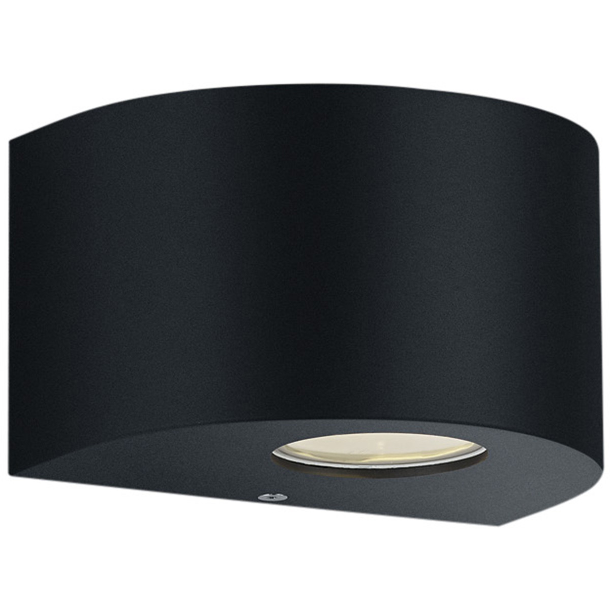 LED Tuinverlichting - Tuinlamp - Trion Rosina - Wand - 4W - Mat Zwart - Kunststof