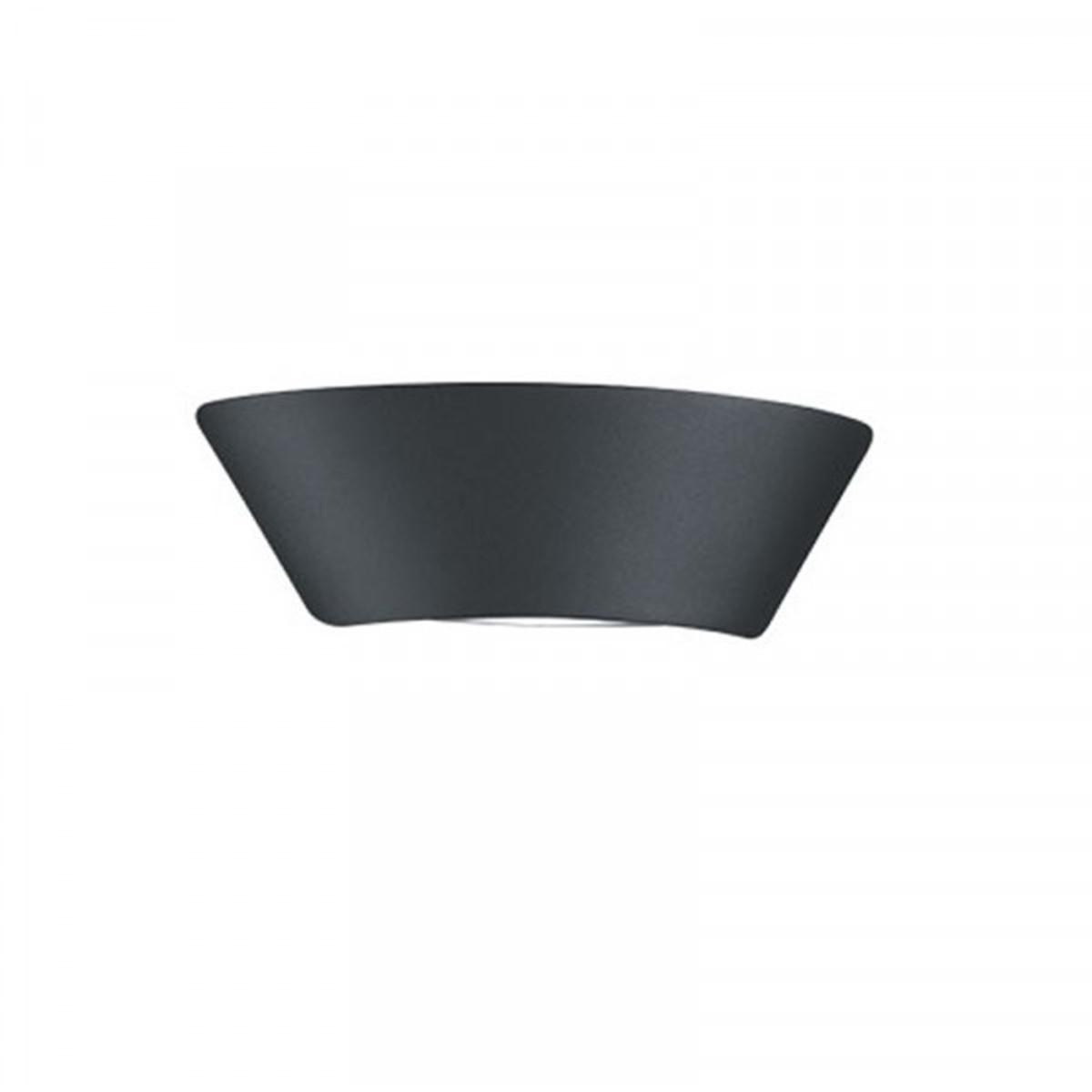 LED Tuinverlichting - Tuinlamp - Trion Sacamon - Wand - 7W - Mat Zwart - Aluminium