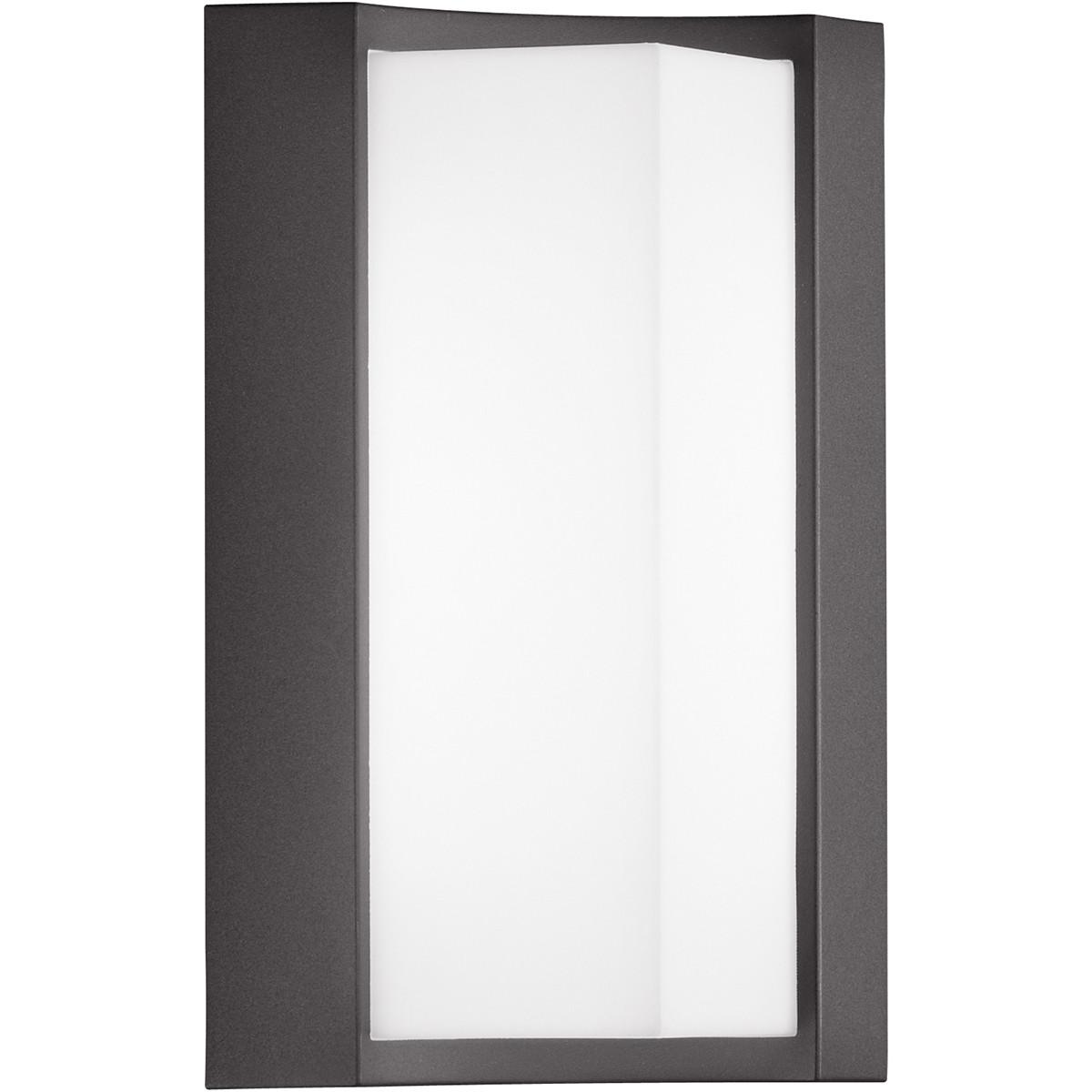 LED Tuinverlichting - Tuinlamp - Trion Soane - Wand - 8W - Mat Zwart - Aluminium