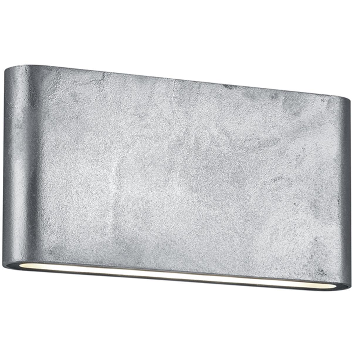 LED Tuinverlichting - Tuinlamp - Trion Thino - Wand - 8W - Mat Grijs - Aluminium