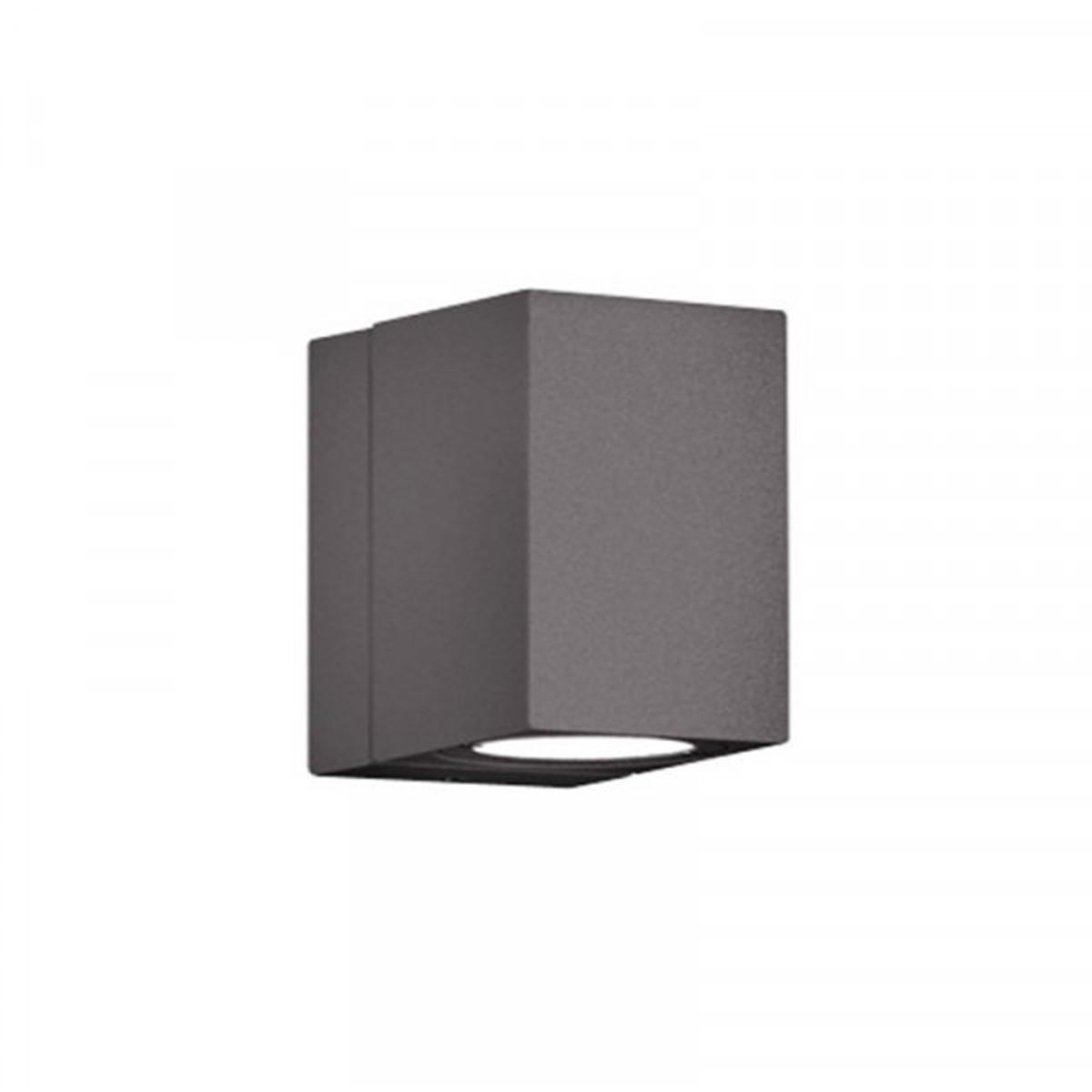 LED Tuinverlichting - Tuinlamp - Trion Tibena - Wand - 3W - Mat Zwart - Aluminium - Draaibaar