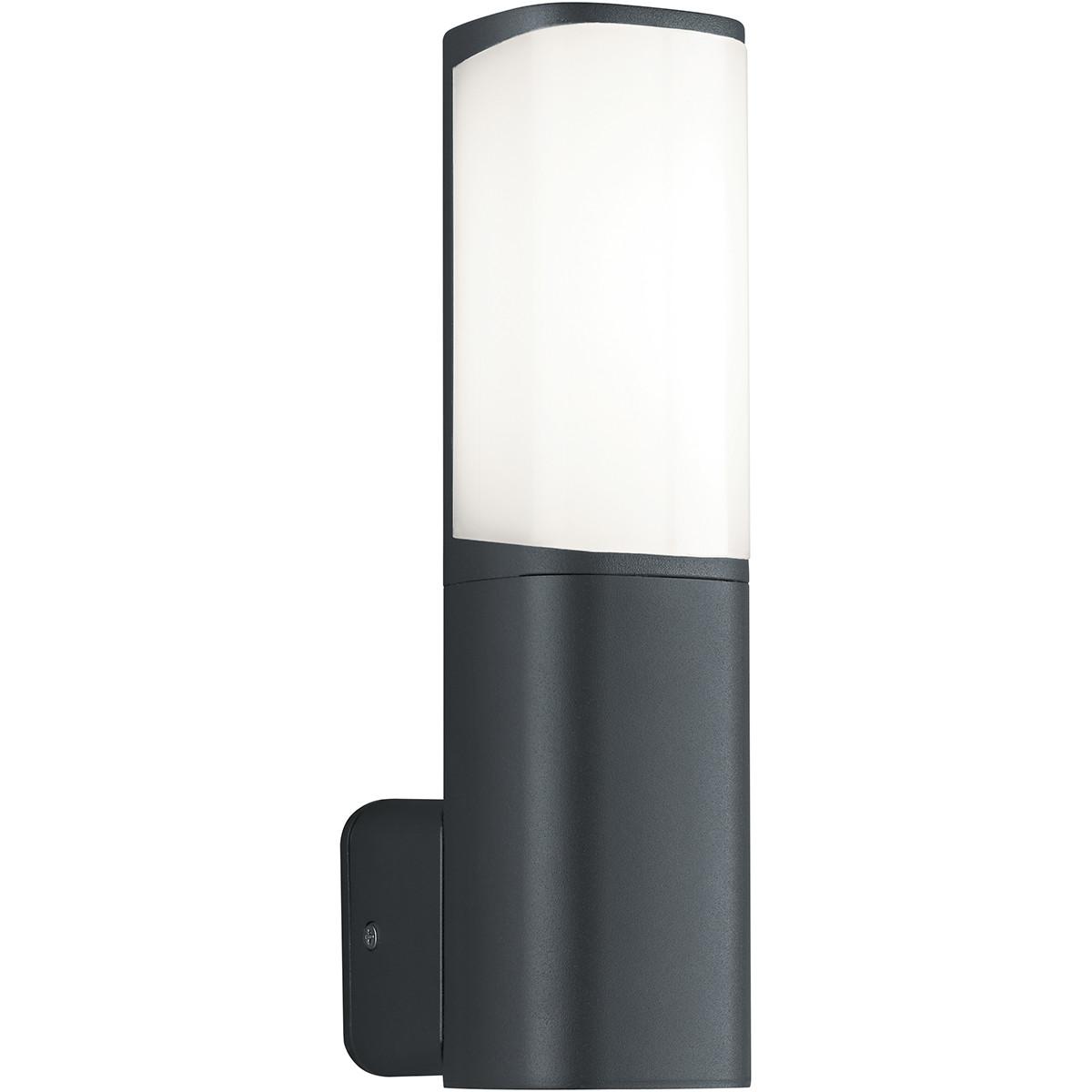 LED Tuinverlichting - Tuinlamp - Trion Ticani - Wand - 5W - Mat Zwart - Aluminium