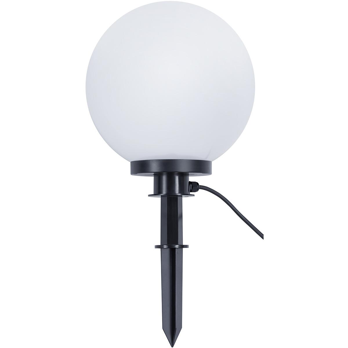 LED Priklamp met Stekker - Trion Balino - E27 Fitting - Mat Zwart - Kunststof - Ø300