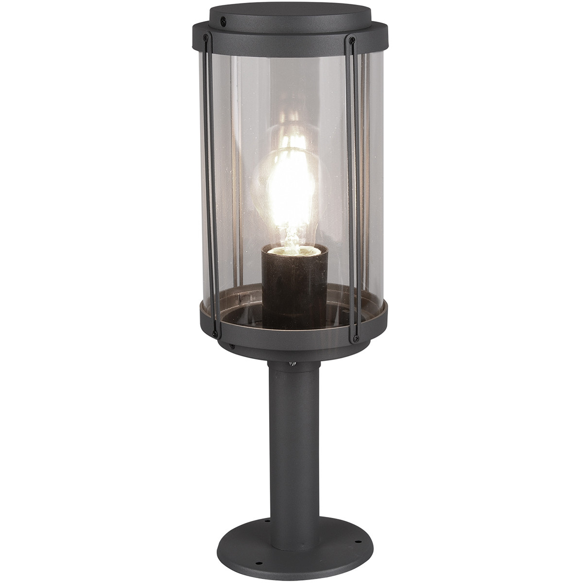 LED Tuinverlichting - Vloerlamp - Trion Taniron - Staand - E27 Fitting - Mat Zwart - Aluminium