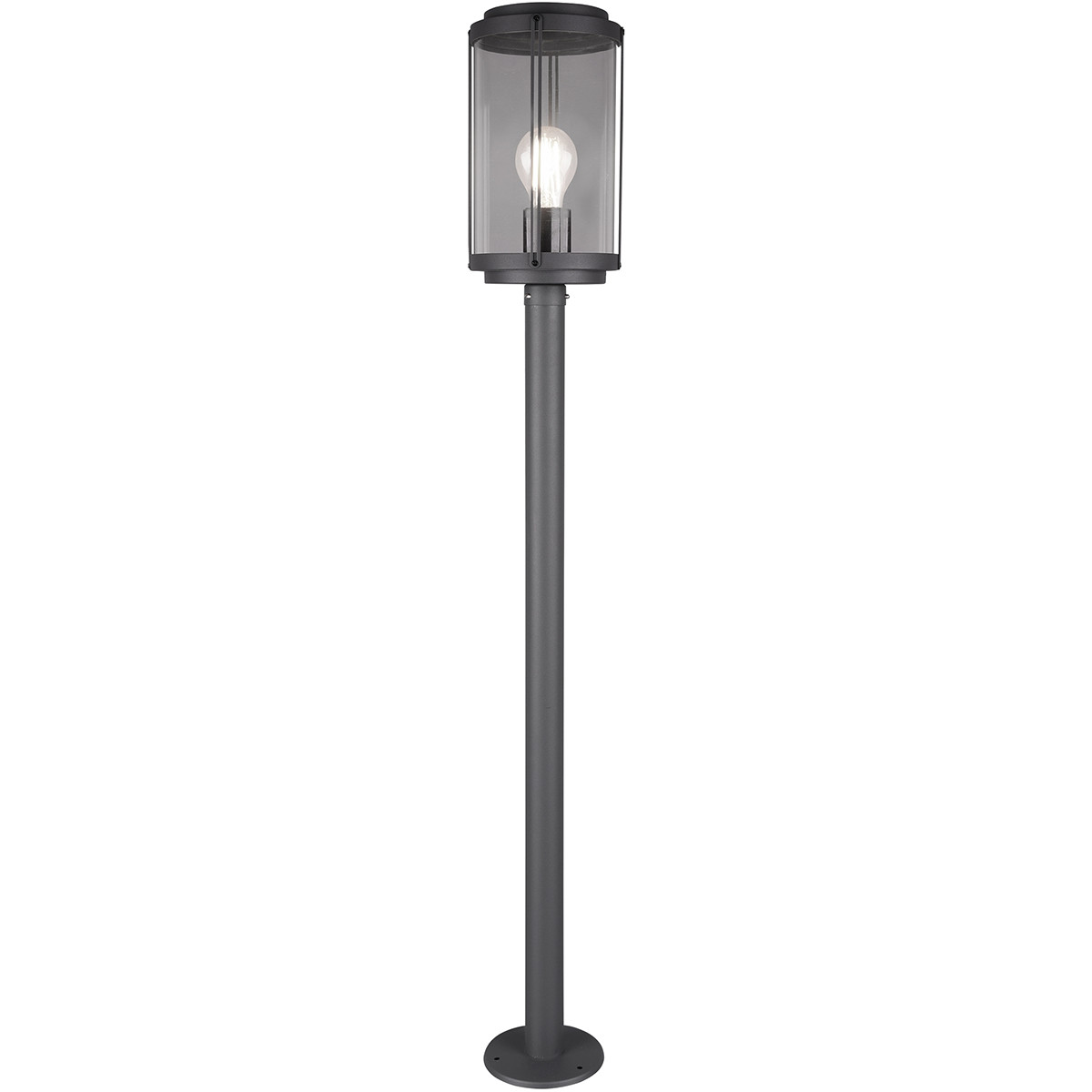LED Tuinverlichting - Vloerlamp - Trion Taniron XL - Staand - E27 Fitting - Mat Zwart - Aluminium