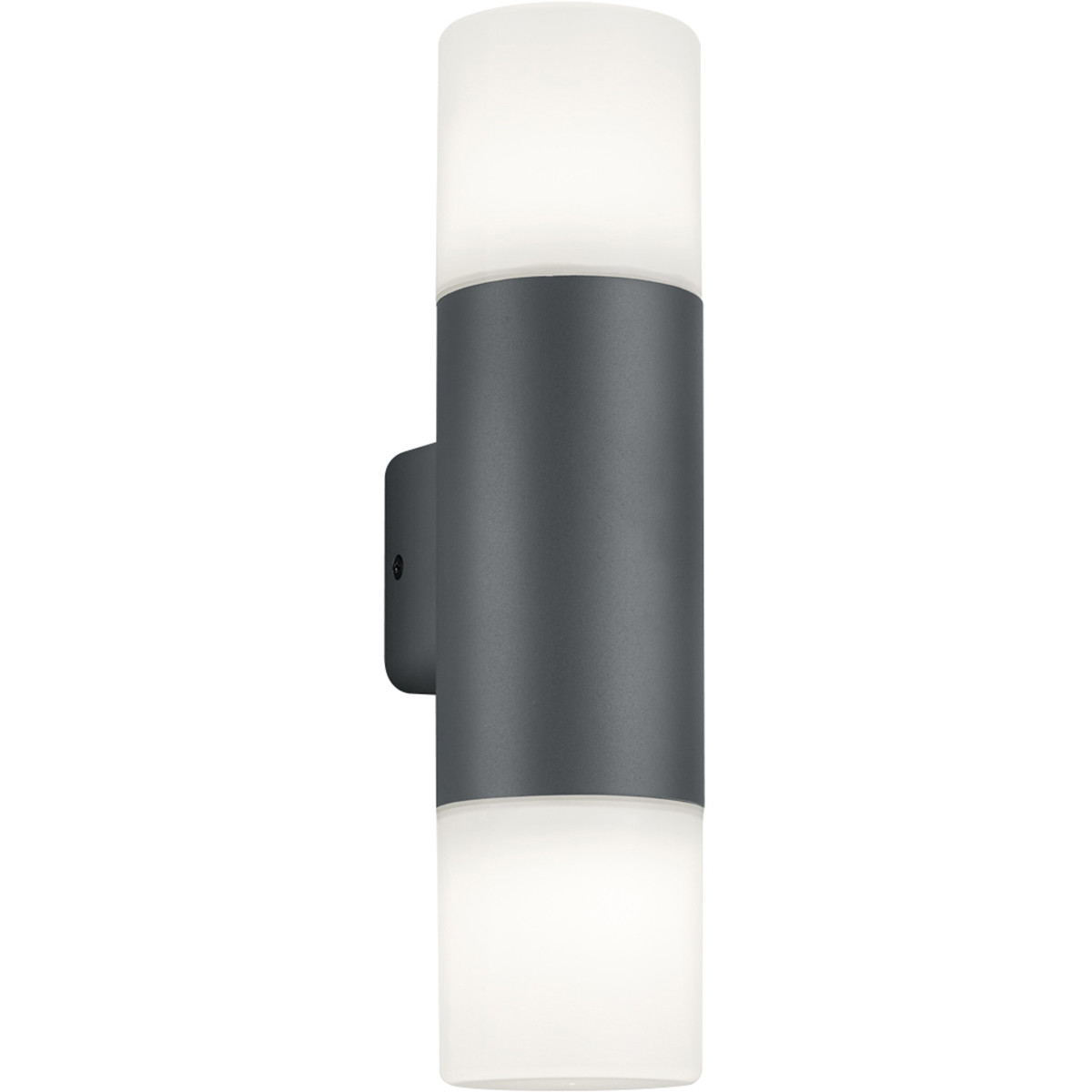 LED Tuinverlichting - Wandlamp - Trion Hosina - E27 Fitting - 2-lichts - Mat Zwart - Aluminium