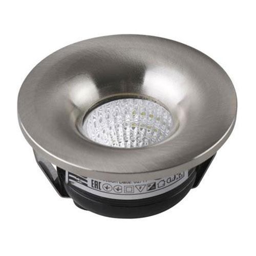 LED Veranda Spot Verlichting - Inbouw Rond 3W - Natuurlijk Wit 4200K - Mat Chroom Aluminium - Ø48.5m