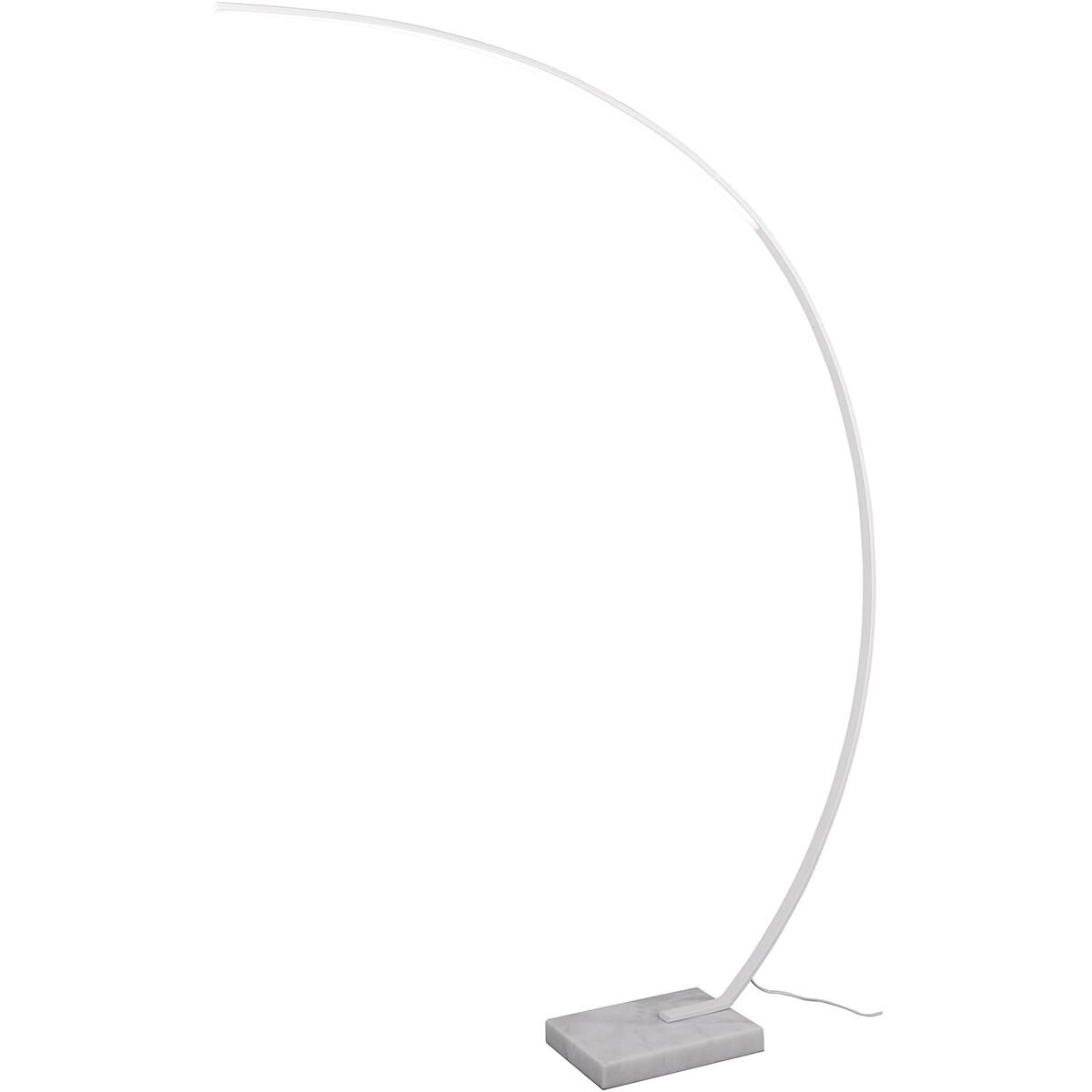 LED Vloerlamp - Trion Bango - 18W - Natuurlijk Wit 4000K - Rechthoek - Mat Wit - Aluminium