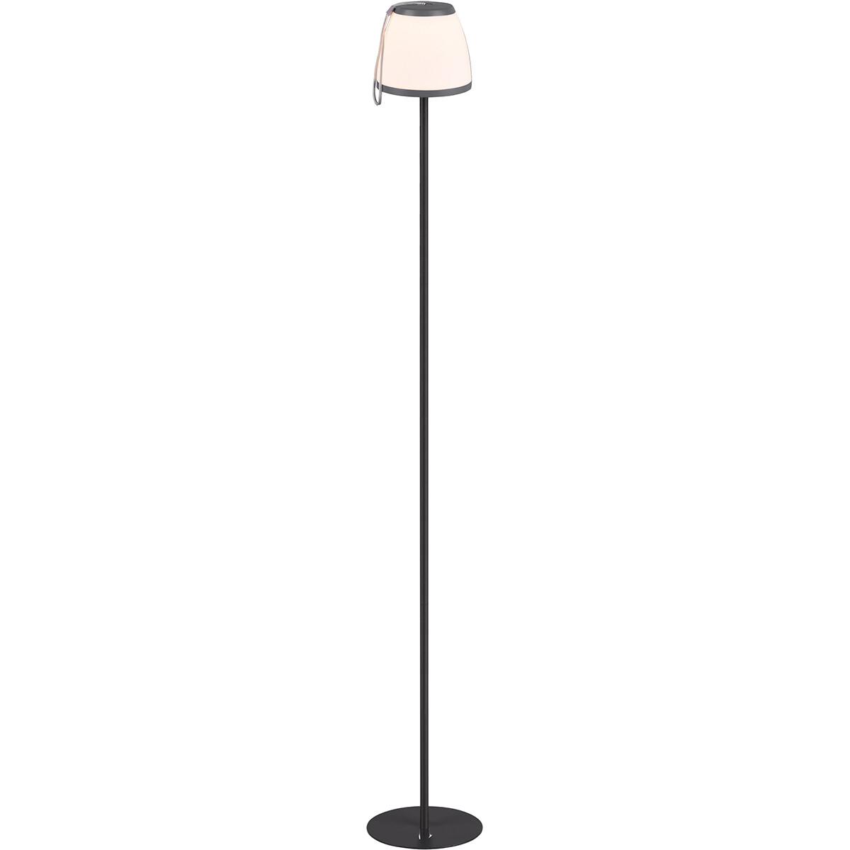 LED Vloerlamp - Trion Dimgo - 2W - Warm Wit 3000K - Rond - Antraciet - Kunststof