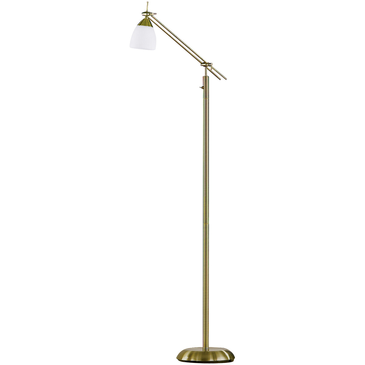 LED Vloerlamp - Trion Ican - E27 Fitting - Rond - Oud Brons - Aluminium