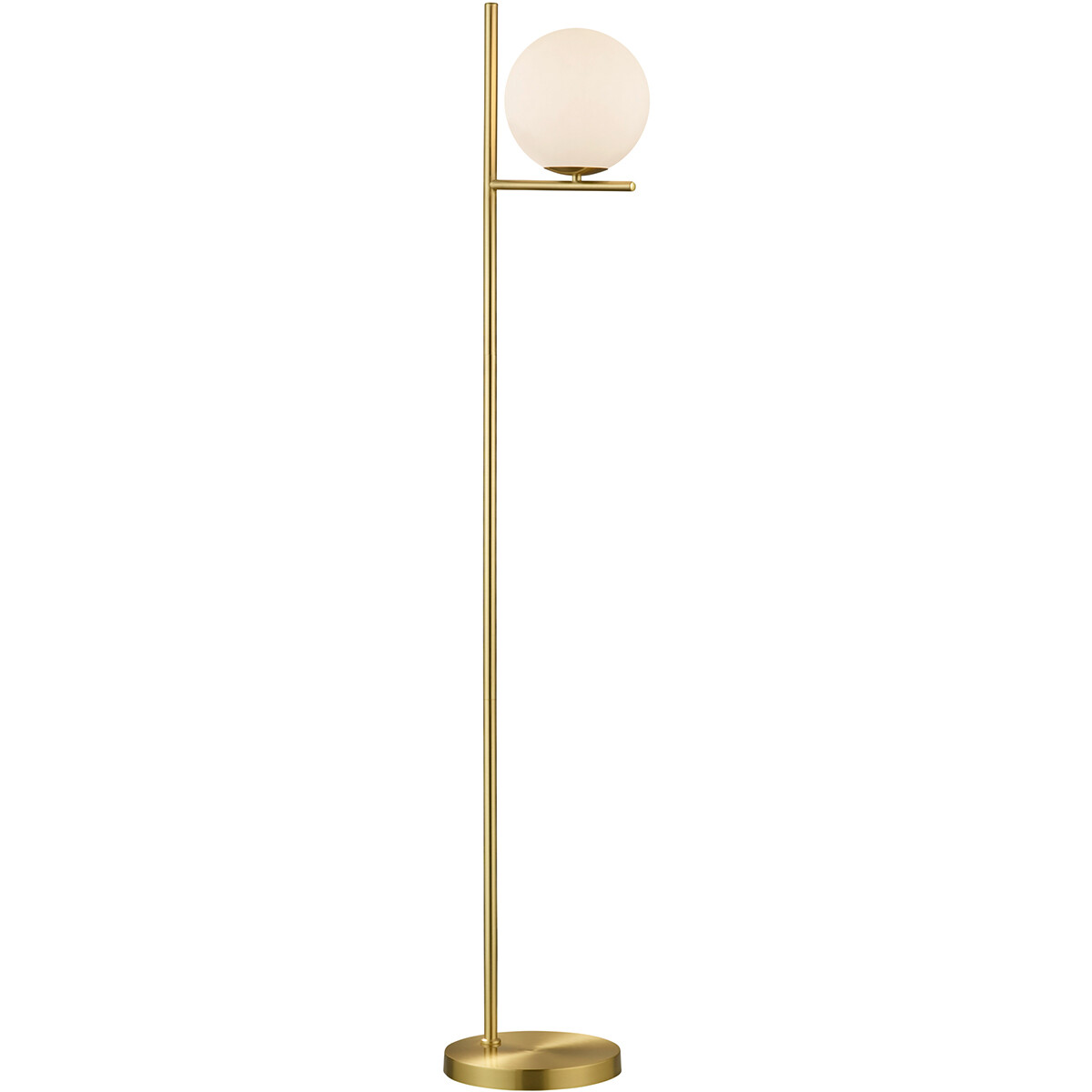 LED Vloerlamp - Trion Pora - E14 Fitting - Rond - Mat Goud - Aluminium