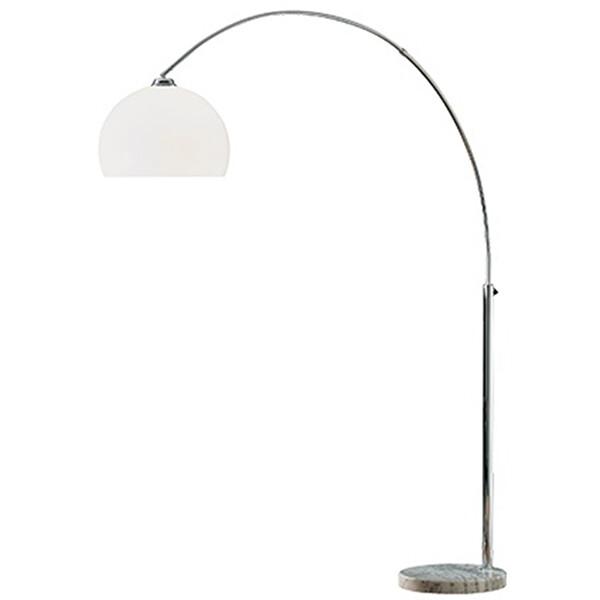 LED Vloerlamp - Trion Solar - E27 Fitting - Rond - Mat Chroom - Aluminium