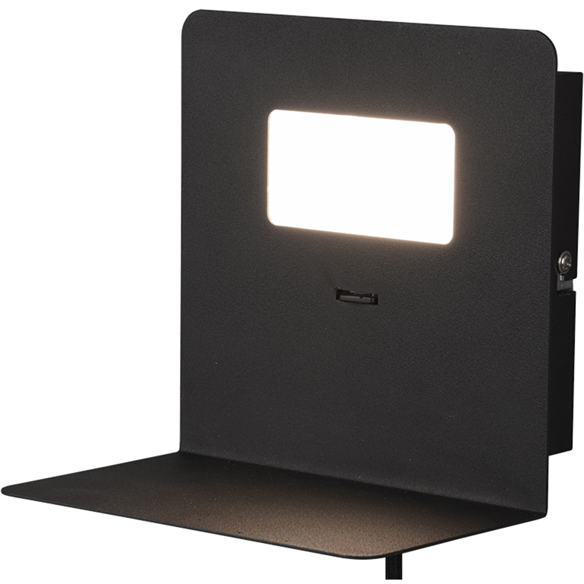 LED Wandlamp - Trion Alinoft - 3W - Warm Wit 3000K - USB Oplaadfunctie - Mat Zwart - Aluminium