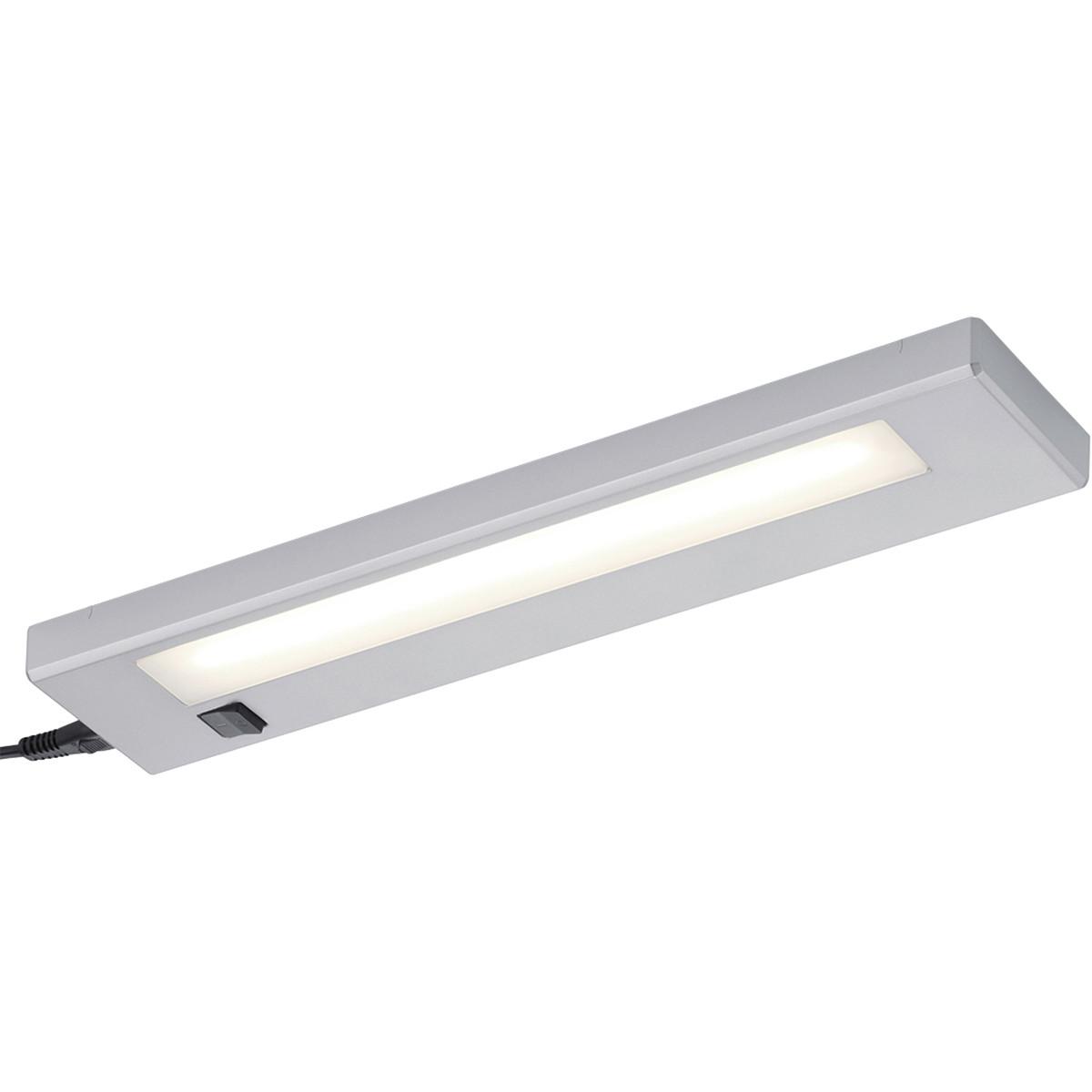 LED Wandlamp Trion Alyna 4W Warm Wit 3000K Rechthoek Mat Titaan
