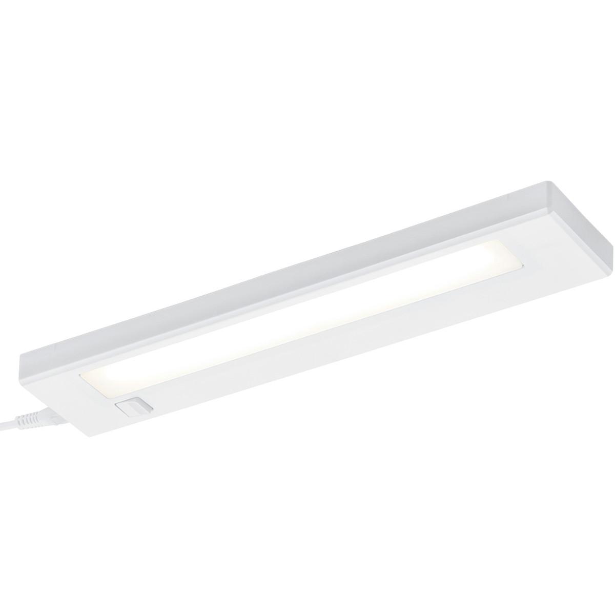 LED Keukenkast Verlichting - Trion Alyna - 4W - Warm Wit 3000K - Rechthoek - Mat Wit