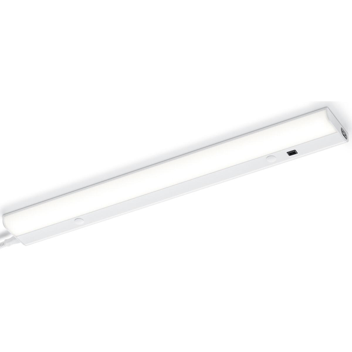 LED Wandlamp - Trion Simi - 10W - Warm Wit 3000K - Rechthoek - Mat Wit - Aluminium