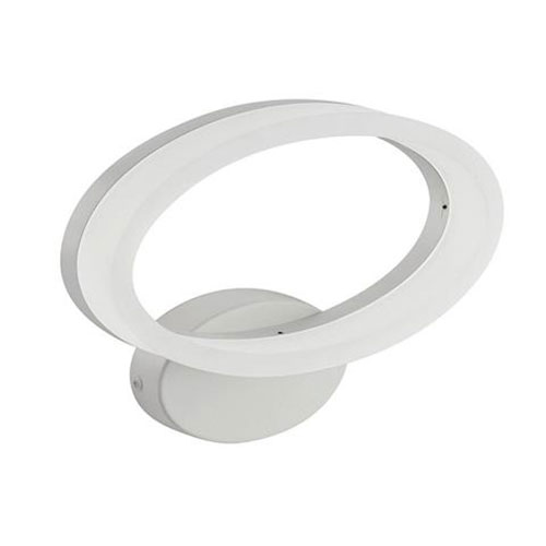 LED Wandlamp - Wandverlichting - 10W - Natuurlijk Wit 4200K - Mat Wit Aluminium