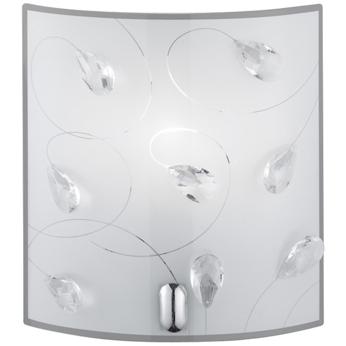 LED Wandlamp - Wandverlichting - Trion Corado - E14 Fitting - Rechthoek - Mat Chroom - Aluminium