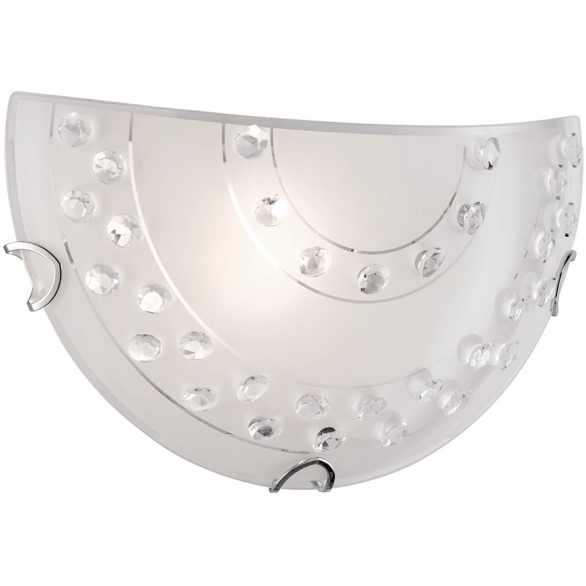 LED Wandlamp - Wandverlichting - Trion Crasto - E27 Fitting - Rond - Mat Wit - Aluminium