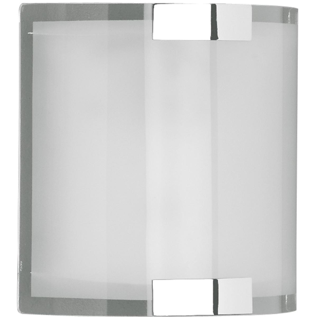 LED Wandlamp - Wandverlichting - Trion Derbio - E14 Fitting - Rechthoek - Mat Chroom - Aluminium