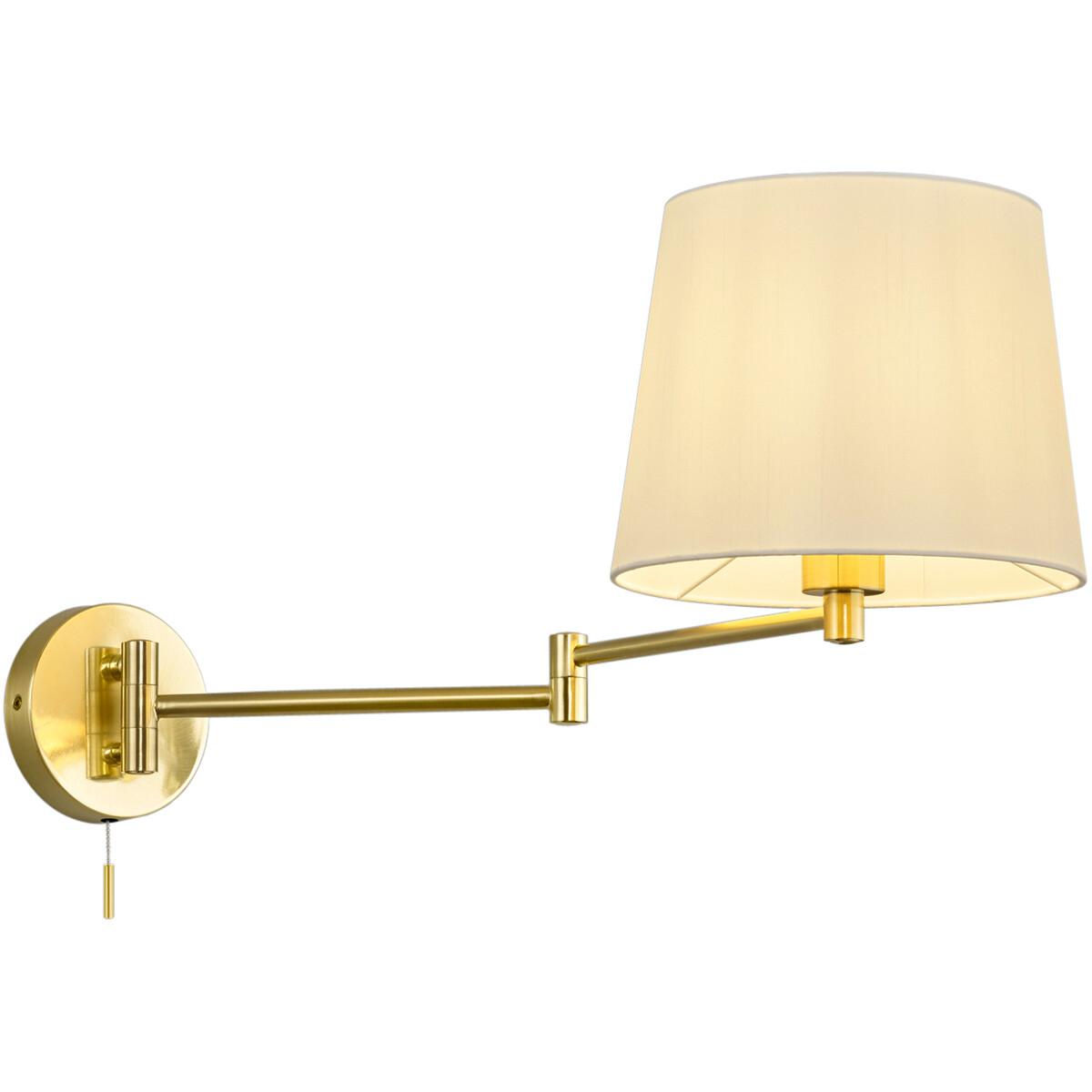 LED Wandlamp - Wandverlichting - Trion Dyon - E27 Fitting - Rond - Mat Goud - Aluminium