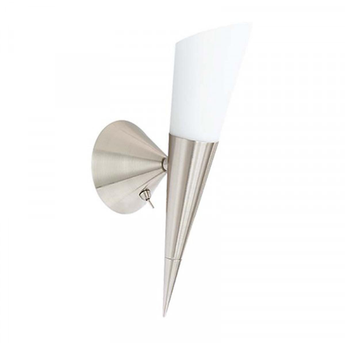 LED Wandlamp - Wandverlichting - Trion Kano - E14 Fitting - Rond - Mat Nikkel - Aluminium