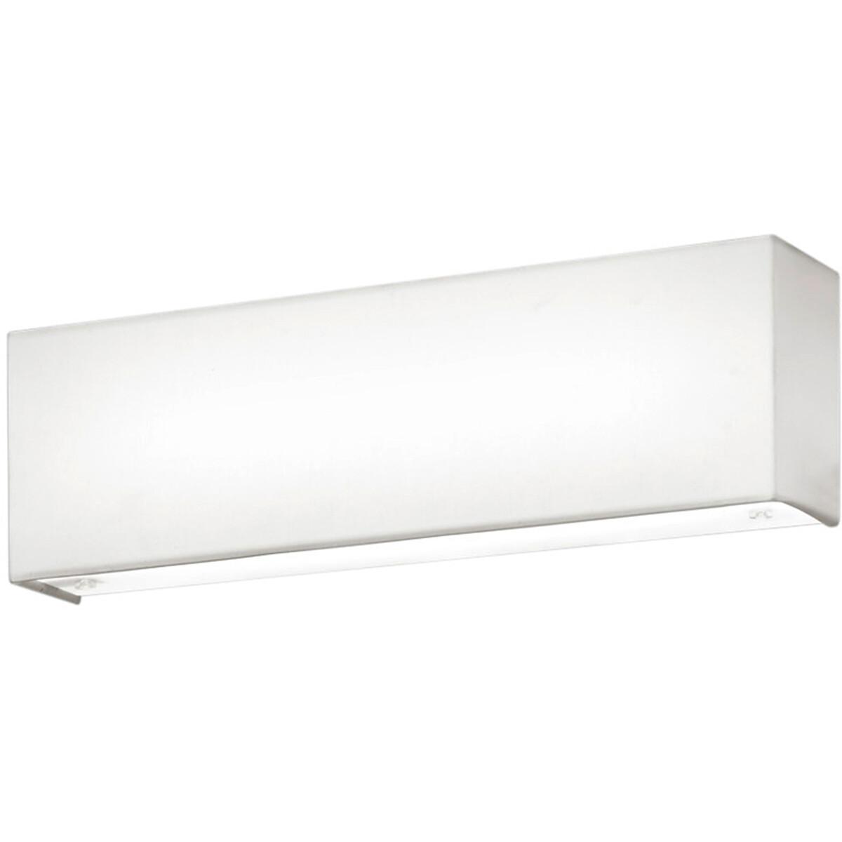 LED Wandlamp - Wandverlichting - Trion Lanago - 6W - Warm Wit 3000K - Rechthoek - Mat Wit - Aluminiu