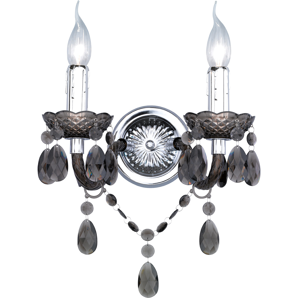 LED Wandlamp - Wandverlichting - Trion Lucy - E14 Fitting - Rond - Mat Zwart - Aluminium