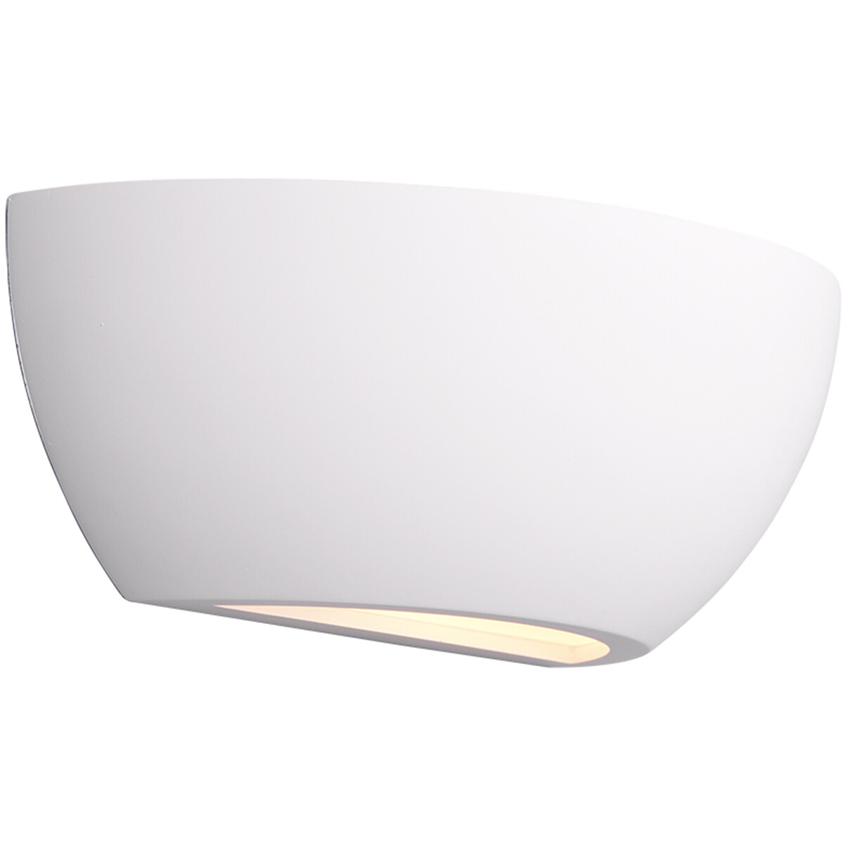 LED Wandlamp - Wandverlichting - Trion Roman - E14 Fitting - Rechthoek - Mat Wit - Gips