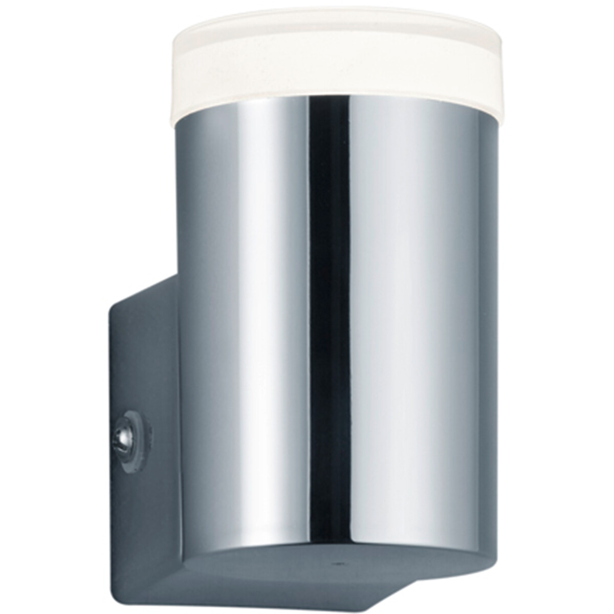 LED Wandlamp - Wandverlichting - Trion Yar - 4W - Warm Wit 3000K - Rond - Mat Chroom - Kunststof