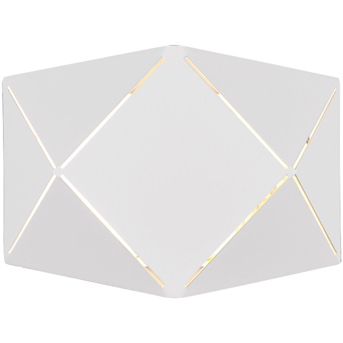LED Wandlamp - Wandverlichting - Trion Zanda - 6W - Warm Wit 3000K - Rond - Mat Wit - Aluminium