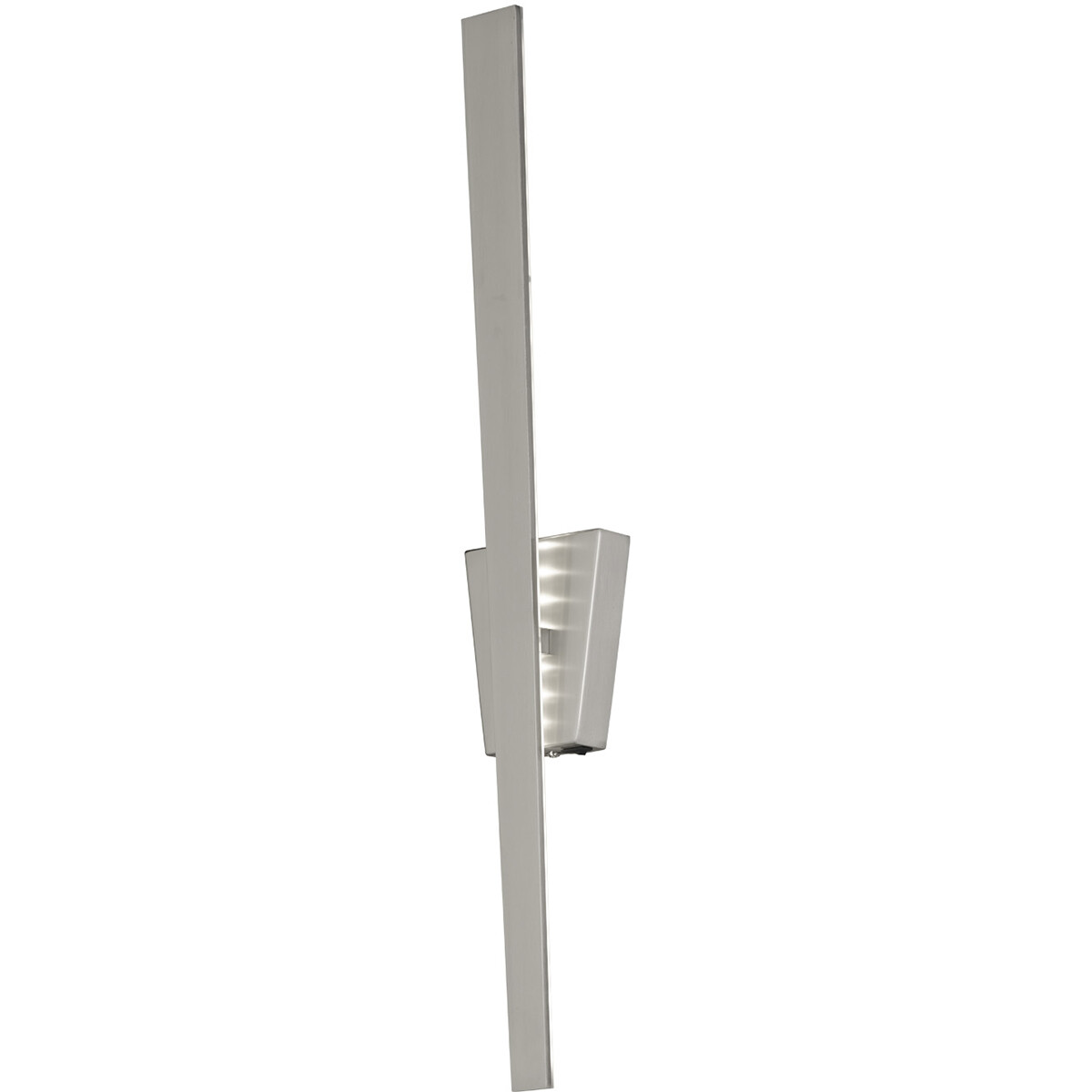 LED Wandlamp - Wandverlichting - Trion Zitana - 6W - Warm Wit 3000K - Rechthoek - Mat Nikkel - Alumi