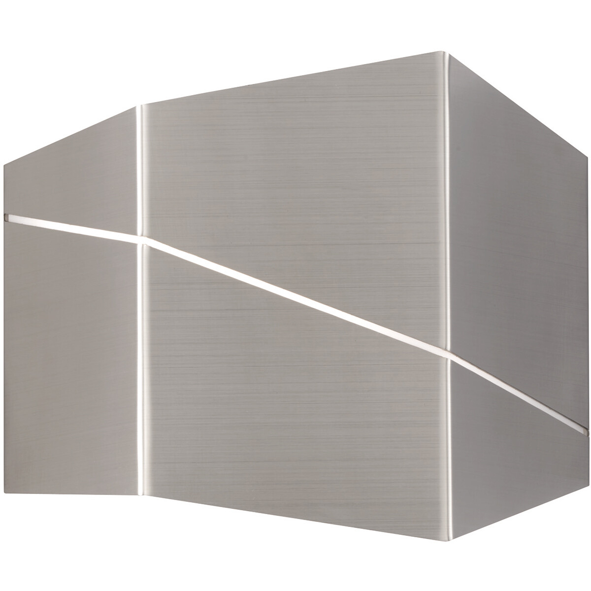 LED Wandlamp - Wandverlichting - Trion Zorran - 6W - Warm Wit 3000K - Rechthoek - Mat Nikkel - Alumi