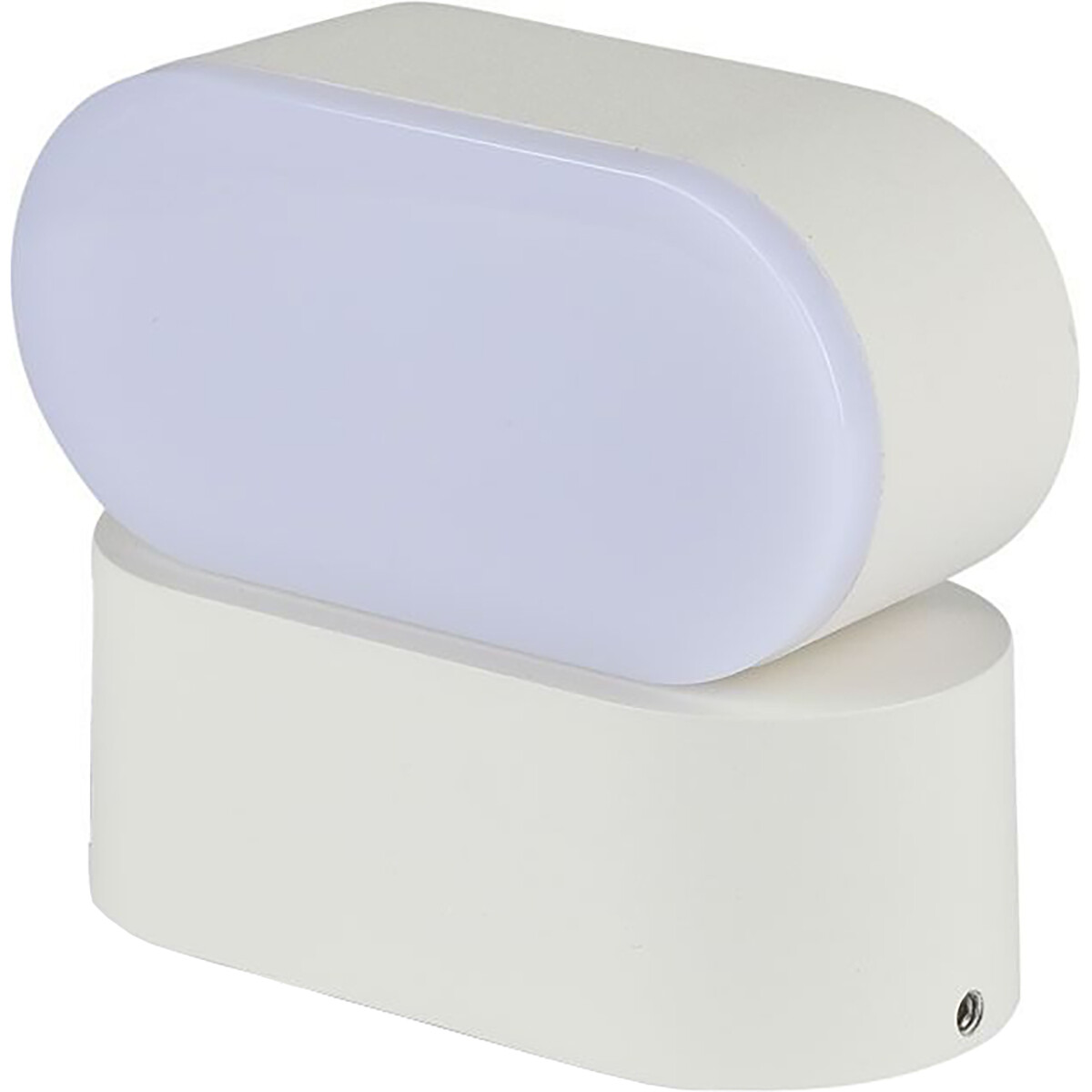LED Tuinverlichting - Buitenlamp - Viron Trabon - Wand - 6W - Warm Wit 3000K - Ovaal - Mat Wit - Alu