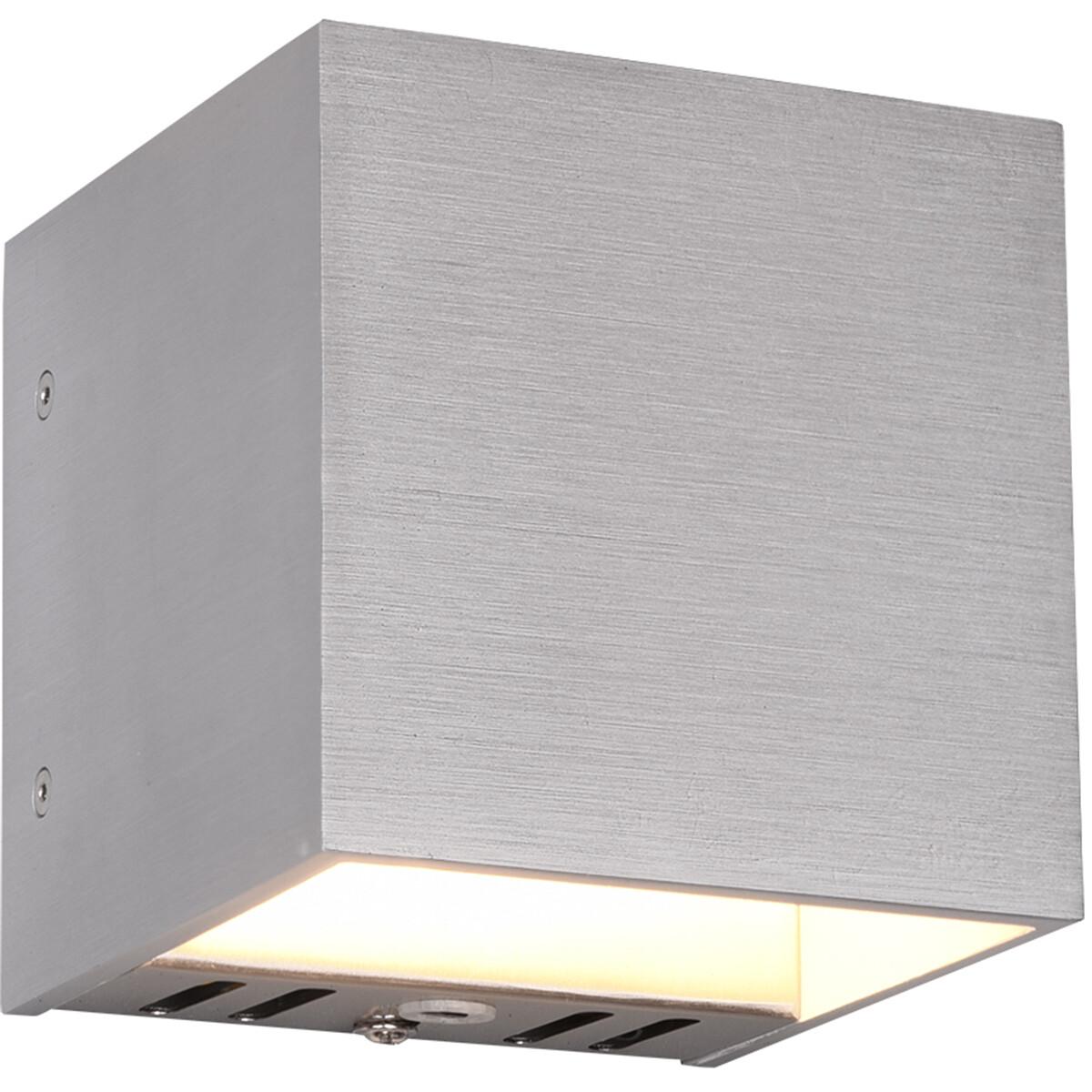 LED Wandlamp WiZ - Smart LED - Trion Figlio - 5W - Aanpasbare Kleur - RGBW - Vierkant - Mat Grijs -