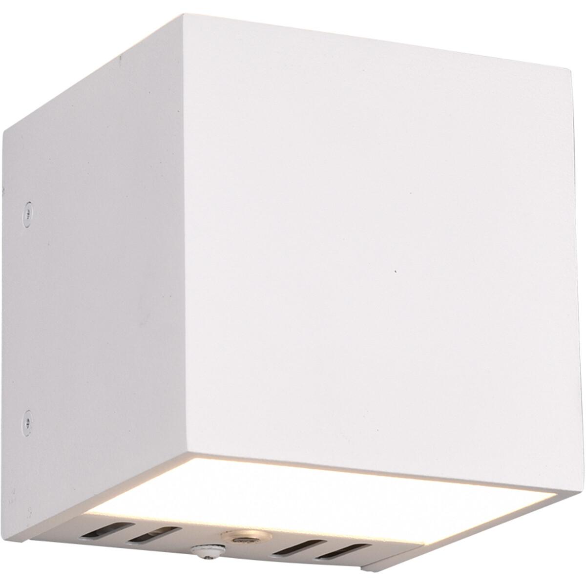 LED Wandlamp WiZ - Smart LED - Trion Figlio - 5W - Aanpasbare Kleur - RGBW - Vierkant - Mat Wit - Al