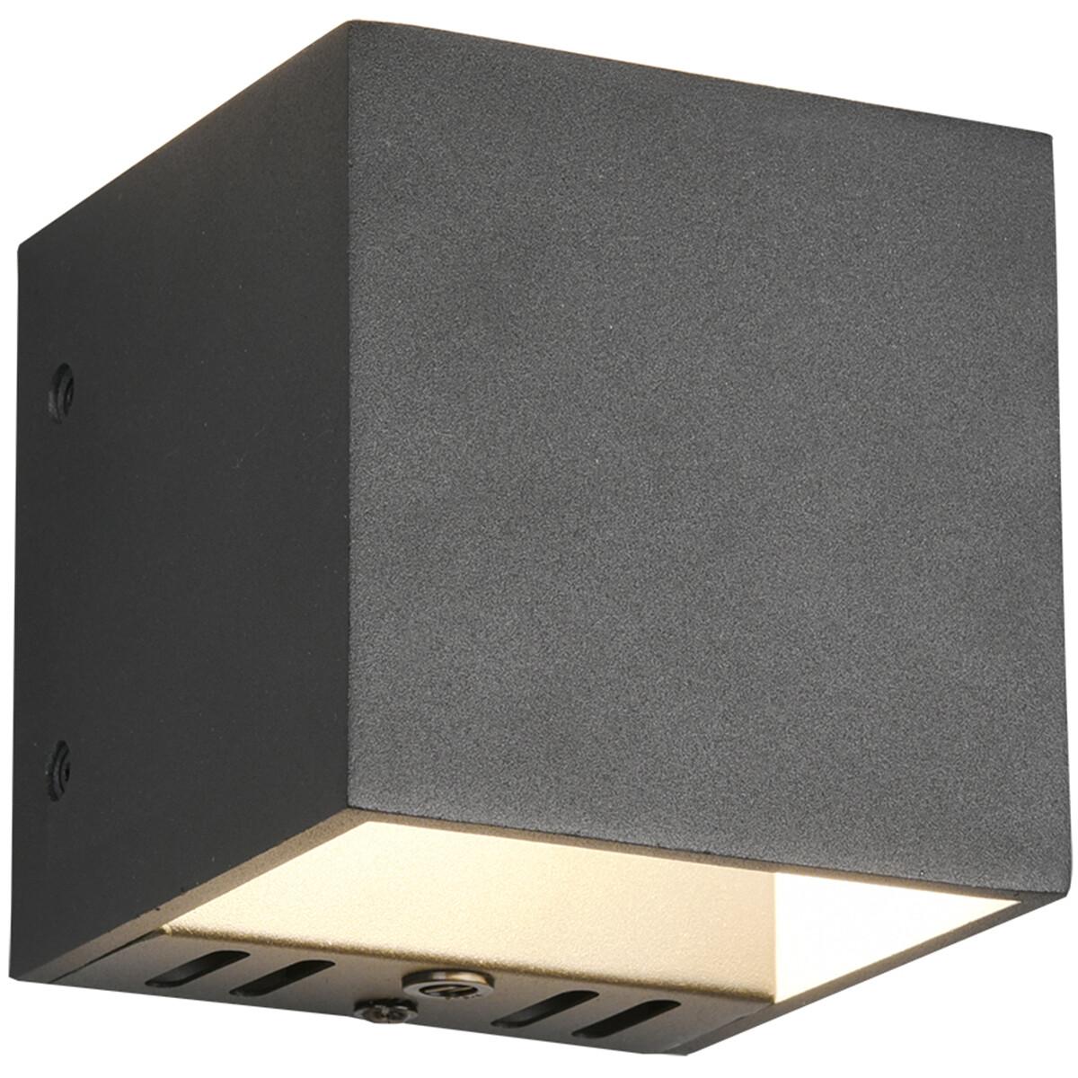 LED Wandlamp WiZ - Smart LED - Trion Figlio - 5W - Aanpasbare Kleur - RGBW - Vierkant - Mat Zwart -