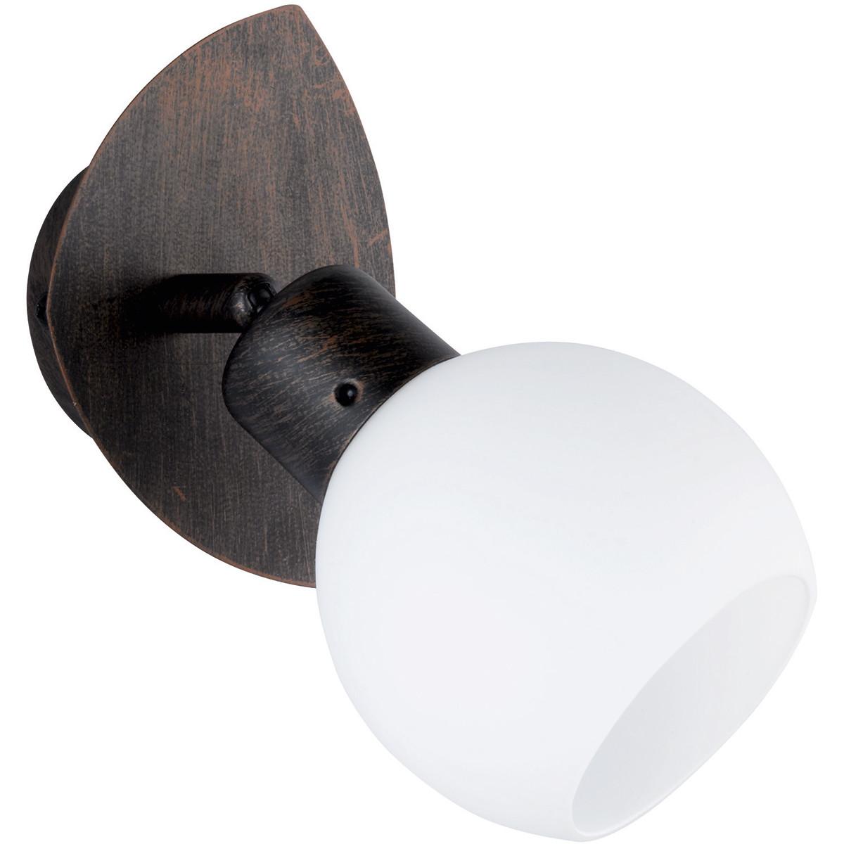 LED Wandspot - Trion Frudo - 4W - E14 Fitting - Warm Wit 3000K - Rond - Roestkleur - Aluminium