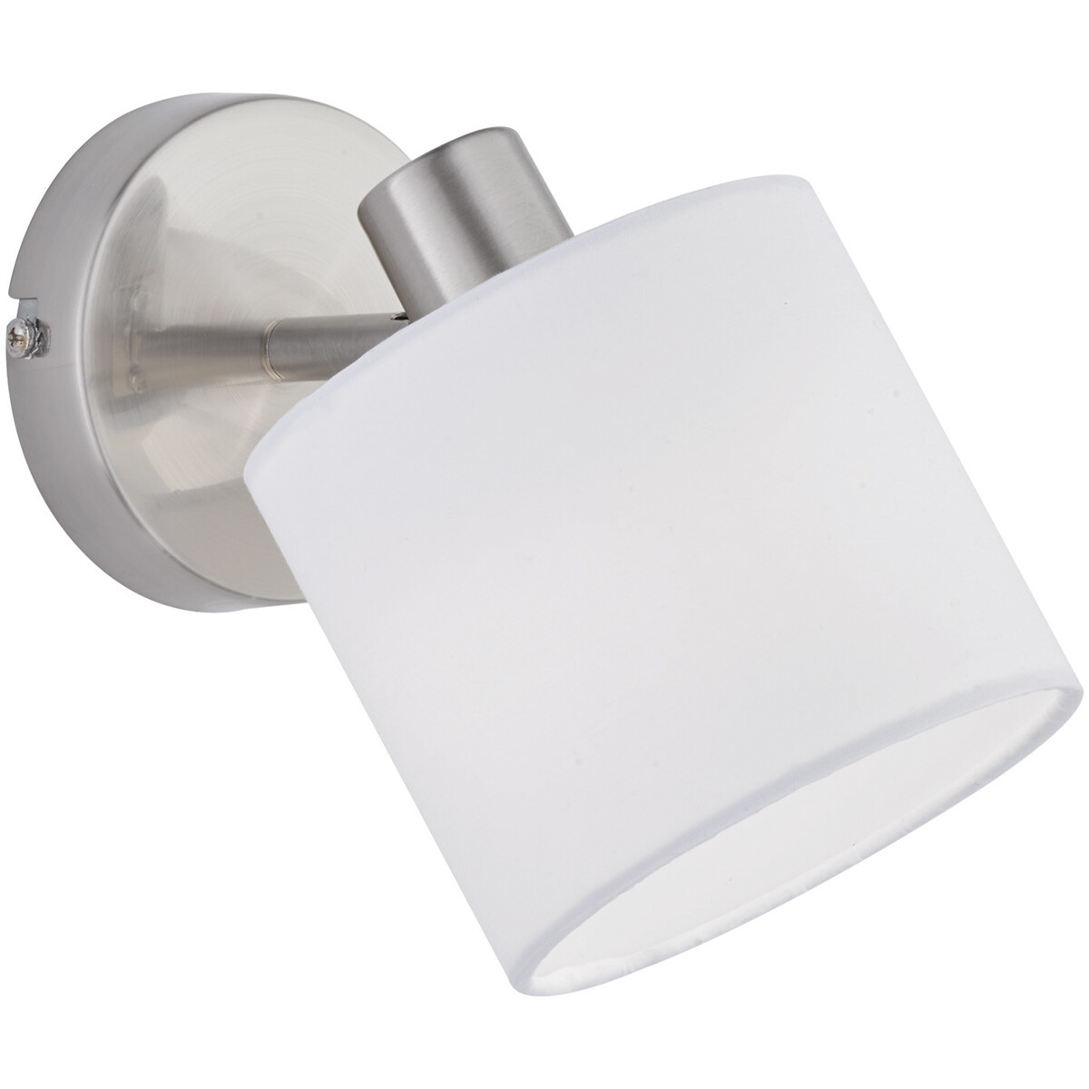 LED Wandspot - Trion Torry - E14 Fitting - Rond - Mat Nikkel - Aluminium