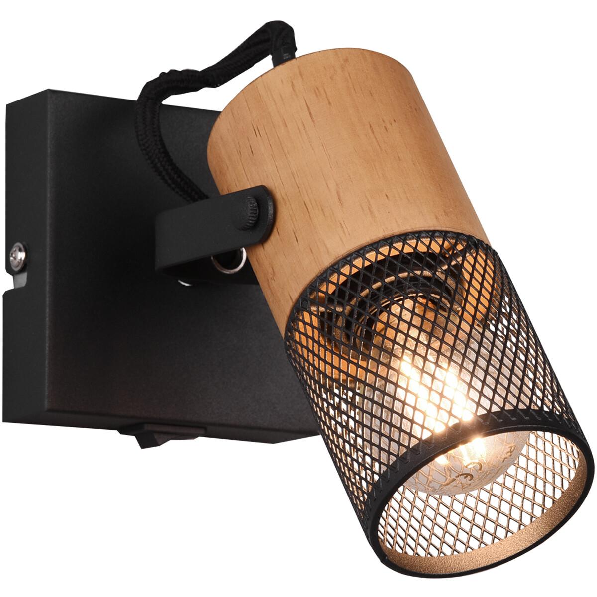 LED Wandspot - Trion Yosh - E14 Fitting - 1-lichts - Vierkant - Mat Zwart - Aluminium