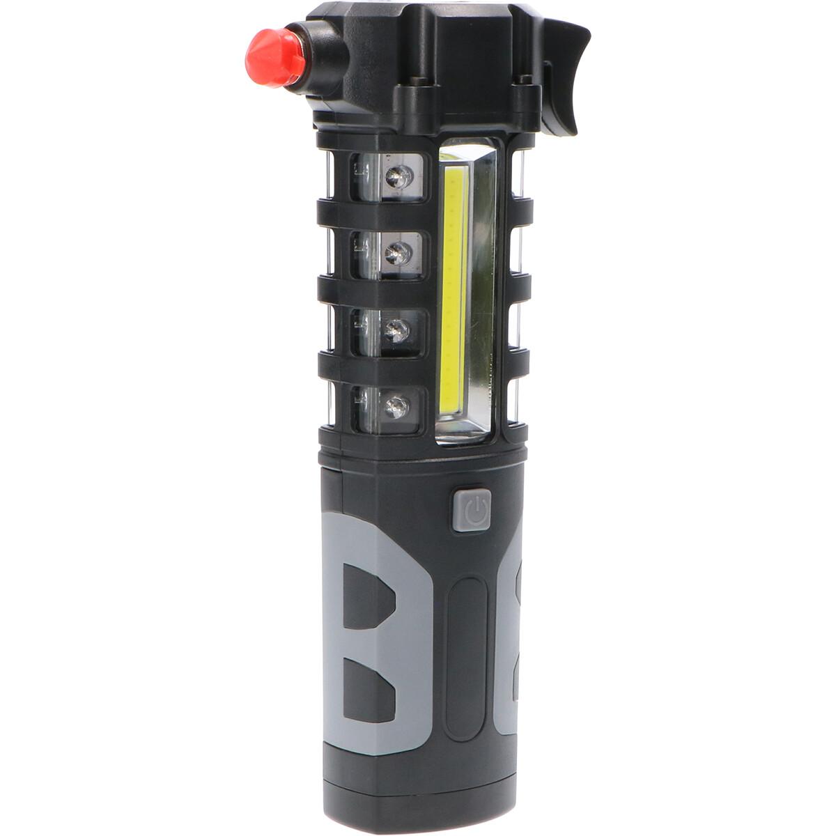 Lifehammer - Veiligheidshamer - Sanola Milti - LED Zaklamp - Gordelsnijder - Flikkervrij - Zwart