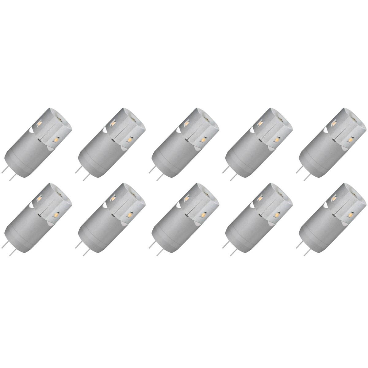 MEGAMAN - LED Lamp 10 Pack - Storm - G4 Fitting - 2W - Warm Wit 3000K | Vervangt 10W