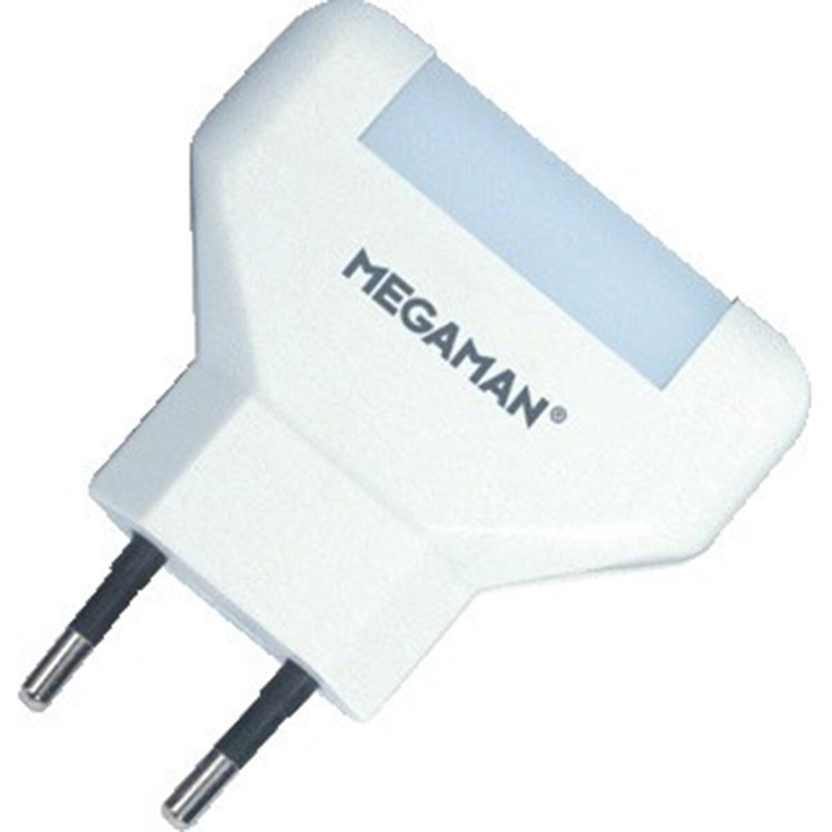 MEGAMAN - Stekkerlamp Lamp - Hatso - 0.2W - Warm Wit 2700K - Rond - Mat Wit
